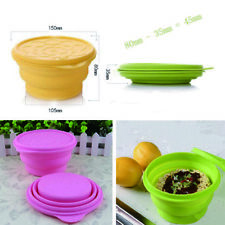 830ML Silicone Folding Cup Bowl Collapsible Outdoor Travel Camping Tool with Lid