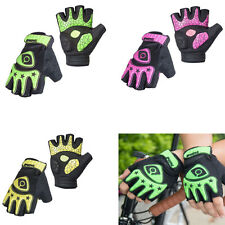 Fingerless Cycling Bicycle Gloves Half Finger Less Gel Palm for Women Men