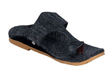 Panahi Men's Kolhapuri Grey Slippers (FBMJUTKOP106GR)