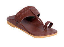 Panahi Men's Brown Leather Kolhapuri Chappal (FBMLTRKOPCPL179BR)
