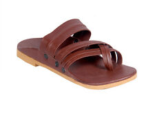 Panahi Men's Brown Leather Kolhapuri Chappal (FBMLTRDPTCPL180BR)