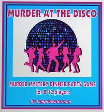 1970's MURDER MYSTERY DINNER PARTY GAME ~ MURDER AT THE DISCO ~ for 8-12 players