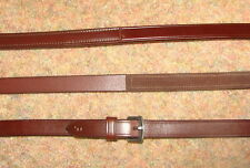 FRANK BAINES English Leather Half Rubber Lined Inside Grip Dressage Grip Reins