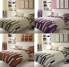 BLOCKS Printed Duvet Cover Floral Bedding Set Single Double Super King in Colors