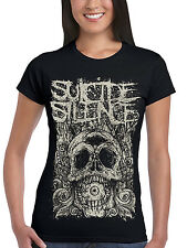 UFFICIALE Suicide Silence Death of CICLOPI T-shirt da donna aderente