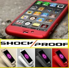 NEW HYBRID 360°HARD ULTRA THIN CASE+TEMPERED GLASS COVER FOR IPHONE 5 6 7 7 PLUS