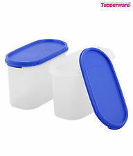 TUPPERWARE MODULAR MATES OVALS 1.1 LTR / DRY STORAGE CONTAINERS (SET OF 2 PCS)