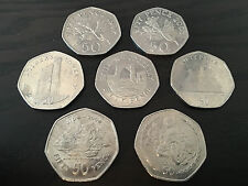 Guernsey, Gibralter, Jersey, Isle of Man 50p Coin Hunt Fifty Pence - UK Seller