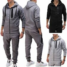 Herren Trainingsanzug FORCE Jogginganzug Kontrast Homewear Fitness Anzug Sport