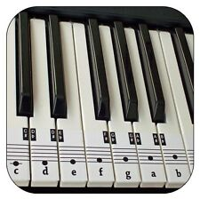 Beginners Piano & Keyboard Music Note Stickers+Free Downloadable Placement Guide