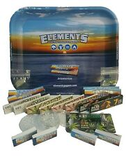 Elements Rolling Tray Smoking Kush Marley Paper Roach Filter Tips Grinder Pipe