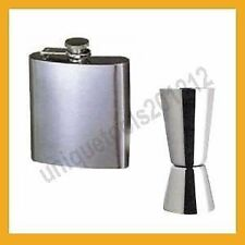 Personal Bar Combo - Stainless Steel Hip Flask and Peg Measure Overview