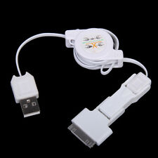 Retractable USB Data Cable Charger Cord Data for iPhone 4S 4 3GS 3G 2G iPod 4