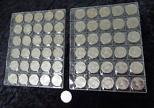 50 cent complete coin collection 61 coins in plastic sleeve 1966 -  2016