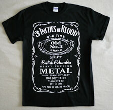 """3 Inches of Blood official T-shirt """"Heavy fucking metal"""" black  NEW (S,M)"""