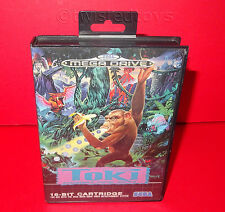 VINTAGE 1991 SEGA MEGA DRIVE TOKI GOING APE SPIT 16-BIT CARTRIDGE VIDEO GAME PAL
