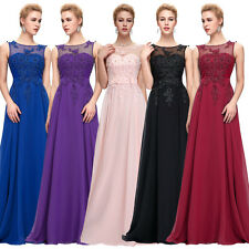 GK Chiffon Ball Gown Evening Prom Party Dress Formal Long Applique Flower Sexy