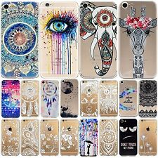 For iPhone 7 Thin Case Soft Silicon Rubber Printed TPU Skin Cover iPhone 8 Plus