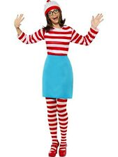 Wheres Wally Female Fancy Dress Costume Ladies Red TV and Film Costumes