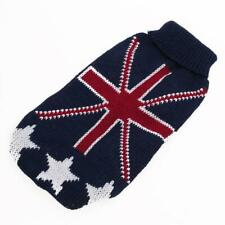 Pet Dog Turtleneck Warm Sweater Knitted Clothes Coat w/ UK Flag Pattern XXS-L