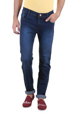 Routeen Indigo Blue Low Rise Slim Fit Branded Jeans for Men (JRMPCDOBLY177S4IB)