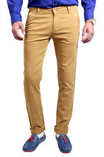 Routeen Slim Fit Khaki Casual Chinos Trousers for Men (TFMDOBCD108S4)