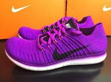 Nike Free RN Flyknit Womens Running Trainers PURLE UK 5.5 6 6.5 7 831070 501