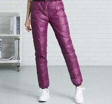 Damen Shiny Glanznylon Wet-look Jogging Daunenhosen Trainingshosen Hose Sport