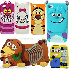 For Apple iPhone XS Cartoon Case 3D Soft Silicone Rubber Cover Skin 8 7 6s SE 5s