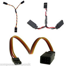 Futaba JR Hitec Servo Y Lead Splitter Wire 22awg All Types 70-600mm UK
