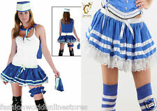 Ladies Lady Bumblebee Honey Bee Blue 4 Pcs Sailor French Maid Woodstock skirt