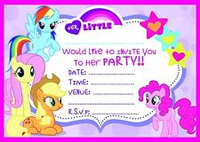MY LITTLE PONY BIRTHDAY PARTY INVITATIONS INVITES WITH OR WITHOUT ENVELOPES