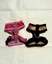 Small dog Chihuahua puppy size comfortable design harness Pink or Beige XXS, XS