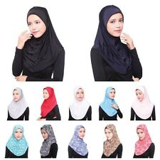 Fashion Muslim Women Inner Hijab Headscarf Cap Islamic Full Cover Hat Underscarf