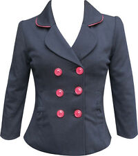 Eucalyptus Clothing Dawn Black Jacket with Red Trim. RRP £75. Various Sizes.