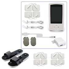 TENS Unit Rechargeable Massager Digital Therapy Acupuncture Pads TWO outputs O