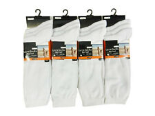 Gros Pied Chausettes, Homme Coton Riche Lycra Blanc chausettes, UK taille 10-13