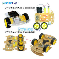 2WD 4WD Robot Smart Car Chassis Kits Speed Encoder 65x26mm Tire for Arduino
