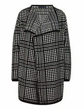 M & S COLLECTION LADIES PURE LUXURY CASHMERE OPEN FRONT CHECKED BLANKET CARDIGAN
