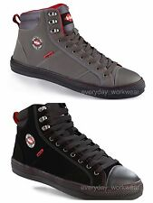 Mens Womens Lee Cooper Steel Toe Safety Baseball Boots High Top Sizes LCSHOE022