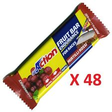 Proaction - Fruit Bar Endurance, 48 Barrette Energetiche da 40 g. Carboidrati