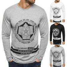 ozonee STREET STAR MX122 homme haut à manches longues sweat impression