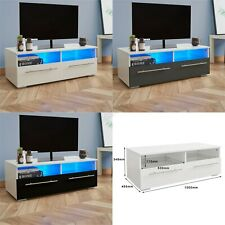 WestWood Modern High Gloss Matt TV Cabinet Unit Stand Blue LED Light TVC04 New