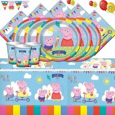 PEPPA PIG PARTY SUPPLIES COMPLETE KITS FOR 8 16 24 32 GUESTS + 1ST CLASS SERVICE