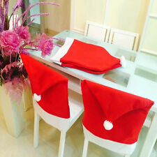 Christmas Chair Covers Dinner Table Santa Hat Home Decorations Ornaments Gift