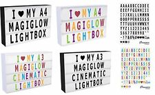 A4 A3 MagiGlow Cinematic Cinema Light Up Letter Box Sign Lightbox Message Board