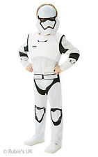 Boys Deluxe Disney Star Wars Stromtrooper Fancy Dress Costume Boys White Disney