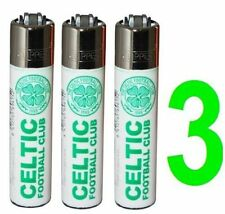 CLIPPER FLINT LIGHTERS OF GLASGOW CELTIC FOOTBALL CLUB  PACK OF(3) FAST SERVICE