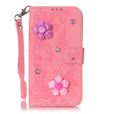For IPHONE 7 7S PU Leather ID/Cards/Wallet Bling Diamond Stand Skin Case Pouch