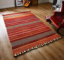 STRIPED RED MULTI Colour Cotton KILIM Handwoven Rug Runner Cushion S-Large 30%OF